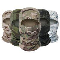 Tactique de camouflage Balaclava masque facial CS Wargame vélo Armée de chasse vélo coupe-vent Casque Liner Armée CP Masque Scarf