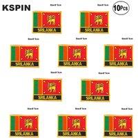 Sri Lanka Flagge Aufnäher Eisen auf Saw on Transfer patches Nähen Anwendungen für Bekleidung in HomeGarden