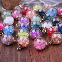 CR Schmuck DIY Zubehör In runden transparenten Mermaid Blase Glaskugel Diamant-Stein-Ohrringe, Anhänger Weihnachtsschmuck QT4C002