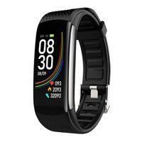 6color C6T Smartwatch Spor Tracker Spor termometre akıllı sıcaklık Nabız Tansiyon Akıllı Monitör Sağlık Bileklik bilezik