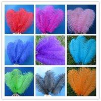 Schöne Straußenfedern 10 Stück Länge 16 -18 Zoll / 40 -45 cm Vielzahl von Farben Optional Diy Feier-Party-Dekoration