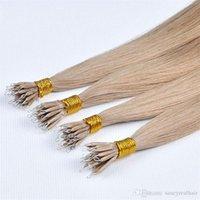 Elibess Nano extensions de cheveux anneau 200 brins top qualité brésilienne cheveux remy blond couleur noire Nano anneau extensions de cheveux humains