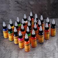 الجديدة 1 اللون حبر الوشم 1 اوقية (الاونصة) 30 مل / زجاجة الحاجب الوشم الطلاء مجموعة 3D ماكياج الجسم الجمال الدائم الرسم أداة الأسود
