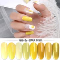 Michelle Nail Primrose Amarillo 8 Color Pequeño Conjunto Esmalte de Uñas 2019 Popular Color Huevo Amarillo Limón Amarillo Barbie Pegamento