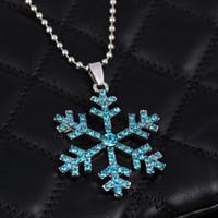 Schneeflocke Kristall Halskette 3D Anime Film Die Schneekönigin Aussage Halskette Schneeflocke Anhänger Halskette