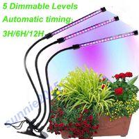 Doble tres cabezas USB LED Cultivar luz USB Fitolampy Fipp Spectrum Phyto Lámpara con controlador para la planta de flores de verduras Greenhouse Fitolamp