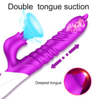 2020 новый фаллоимитатор вибратор Двойной язык лизать телескопический поворот G пятно клитор стимулятор эротические секс игрушки для взрослых для женщин вагинальный Y200422