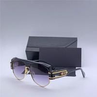 Luksusowe Okulary przeciwsłoneczne dla mężczyzn Ochrona specjalna Cyberpunk Steampunk Designer Vintage ramki Najwyższej jakości Słynne okulary przeciwsłoneczne 671