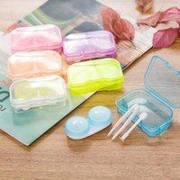 Couleur aléatoire Contactez transparent en plastique Pocket Kit Voyage Lens Case facile Prenez Ledpoint vente Hot DLH114