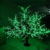 LED LED de Navidad al aire libre artificial Flor de cerezo luz de la lámpara árbol 1248pcs 6 pies / 1,8 m de altura 110VAC / 220VAC a prueba de lluvia gota de envío