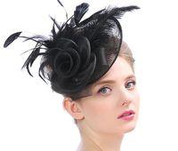 Cappello per capelli di signora Fascinator della clip di capelli della clip di capelli della velo della maglia del cappello di signora floreale del partito per il partito convenzionale