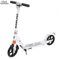 adultes enfants kick scooter 2wheels pliable réglable en alliage d'aluminium T-Style Design robuste léger Heigh bodybuilding
