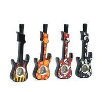 New Multicolor Zinc Alloy Violin Moulding Pipe Creative Tobacco Nozzle Individual Guitar Tobacco Parts Wholesale