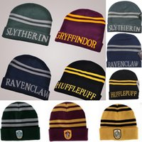 2 Styles Fashion Harry Potter Beanie Gryffindor Slytherin Sk...