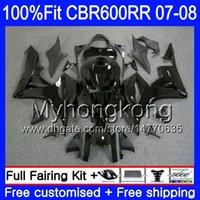 Injektionssats för Honda CBR 600RR 600F5 CBR 600 RR F5 07 08 283HM.3 CBR600F5 CBR600RR 07 08 CBR600 RR 2007 2008 Glänsande svarta Fullständigheter