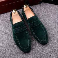 QWEDF Новый 2019 черный мужчины мокасины обувь роскошные скольжения на мокасины свободного покроя замшевые туфли кожаные мужские квартиры обувь