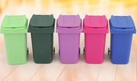 Büyük Ağız Oyuncaklar Mini Çöp Kalem tutucu Geri Dönüşüm Olabilir Durumda Masa Kalem Plastik Depolama Kova Kırtasiye Çeşitli Eşyalar Organizatör Araçları 5 renk