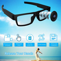 중국 공장 새로운 원래 없음 버튼 디자인 스마트 안경 휴대용 스포츠 DV 비디오 HD 카메라 장착 레코더 HD 1080 마력 DVR 기록 16 기가 바이트