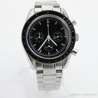 Vendita calda Cronografo per esterni al quarzo batteria da uomo Moonwatch Professional Mens orologi sportivi uomo orologio da polso rotondo quadrante nero rotondo