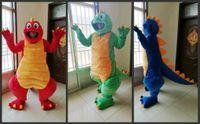 de alta qualidade real Pictures Dragão Rosto dinossauro fantasia de mascote de anime costumes publicidade mascotte Adulto Tamanho fábrica transporte livre directo