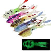Karışık 5 Renk 15cm 60g Parlak Squid Mastar Kanca Balıkçılık Kancalar Balık oltaları Yumuşak Yemler Yemler Yapay Bait Pesca Balıkçılık Aksesuarlar Mücadele