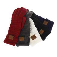 전체 손가락 XD22582 남녀 8 색 패션 스트레치 모직 니트 fation 따뜻한 중국 터치 스크린 장갑에서 만든 디자이너 니트 겨울 장갑