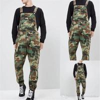 Januarysnow Kamuflaj Denim Erkek tulumları Tasarımcı Baskılı Jean Pantolonlar Tulumlar Moda İnce Erkek Uzun Pantolon