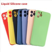 liquid silicone case for iphone 11 pro max with perfect came...