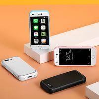 업데이트 된 휴대폰 잠금 해제 된 16GB 간장 7S 슈퍼 미니 스마트 폰 5.0MP HD 카메라 듀얼 시뮬레이션 WiFi BT 쿼드 코어 SmartFon 소형 3G 터치 셀룰러 휴대 전화
