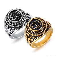 Men' s Ring Stainless Steel Punk Rings Gold Silver Color...