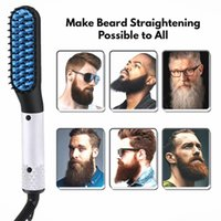 New Fashion Multifunctional Hair Comb Quick Beard Straightener Curling Curler Show Cap Men Beauty Hair Styling Tool