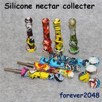 Titanyum Nail İpuçları Silikon Konteyner Reclaimer Nector Toplayıcı Kit ile Yeni silikon Nektar Toplayıcı araçlarınızın silikon boru sigara için