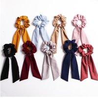 Xugar Accessoires cheveux Foulard bowknot cheveux Chouchous Femmes solides Tissu Holder Bandeaux Cravates Ponytail Cordes pour les filles