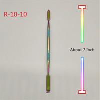 Herramientas de Dab plateadas de titanio de 7 pulgadas Color del arco iris para bongs de vidrio Tubos de agua Uñas de cuarzo Banger Plataformas petroleras
