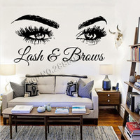 Lash & Brows Large Eyes Quote Wall Decals Fashion Creative V...