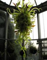 Großhandel Hand geblasenem Glas Nepenthes Kronleuchter Pendelleuchten Innen Laubes Design Sonstiges Kettenleuchter-Beleuchtung mit LED-Lampen