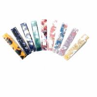 Clip di capelli Barrettes Accessori Forcella acrilica delle ragazze delle donne acetato con stampa leopardata rettangolo Waterdrop Tin Foil lucido Hairgrip 20pcs FJ903