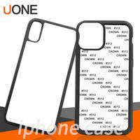Case Cover casi Blank 2D sublimazione di TPU + PC di trasferimento di calore del telefono mobile per iPhone Pro 11 Max 7 8 8plus X xs xs xr max con inserti in alluminio