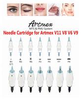 20pcs ArtMEX V6 V8 V9 V9 V11 Aiguilles de remplacement Cartouches de rechange PMU Système d'art corporel Portugal Maquillage permanent Aiguille de tatouage Derma Stylo