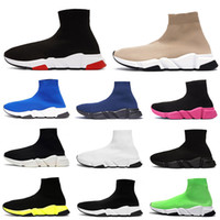 Balenciaga Socks Shoes  Luxo Paris Sock Shoes Mens Womens Designer Meias Sneakers Platform Trainers Preto Branco Verde Rosa velocidade Formadores 2020 New Shoes Casual