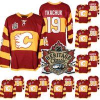 19 Matta Tkachuk Calgary Flames 2011 Isınma Miras Klasik Jersey Johnny Gaudreau Jarome Iginla David Rittich Sean Monahan Giordano