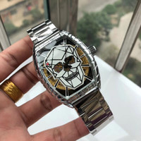 Top brand quality Mens Luxury Watches Skull dial Stainless S...