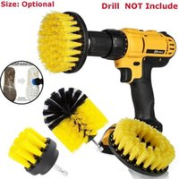 3pcs / set Power Brush Set di spazzole per il bagno Trapano Spazzola per la pulizia Cordless Drill Attachment Kit Power Scrub Brush