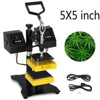 """900W 듀얼 난방 요소 스윙 암 5 """"X5""""대합 조개 껍질 수동 로진을 눌러 열 프레스 머신 난방 고압"""