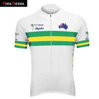VIDATIERRA 2019 maglia da ciclista verde / bianca Nazionale australiana mtb bike wear magliette nazionali Mappa modello onore fortunato fortunato vincitore