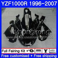 Corpo per Yamaha Gloss Black Hot Thunderiace YZF1000R 96 97 98 99 00 01 238hm.3 YZF-1000R YZF 1000R 1996 1997 1998 1999 2000 Kit carenze 2000