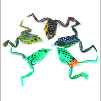 5PCS 5. 5CM 15. 5g 2. 16in 0. 54oz Frog Boxsets Soft Rubber Frog...