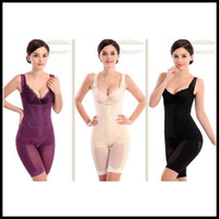 DAMLA DENİZCİLİK M-6XL Kadınlar Sorunsuz Full Body Shaper Bel Underbust cincher Suit Kontrol Bürosu Karın Bej Siyah Mor ücretsiz damla nakliye