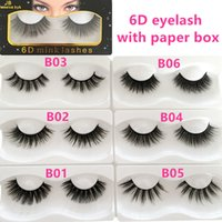wholesale 8styles 6d MINK false eyelashes natural comfortabl...