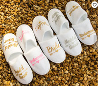 Personalized brides Bridesmaid slippers wedding bridal showe...